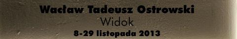 """Galeria xx1 - Wacław Tadeusz Ostrowski """"Widok"""""""