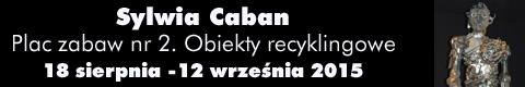 """Galeria xx1 - Sylwia Caban <br>""""Plac zabaw nr 2. Obiekty recyklingowe"""""""
