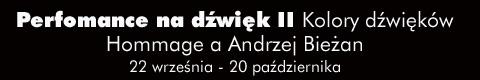 Galeria xx1 - Performance na dźwięk III<br>Hommage à Andrzej Bieżan