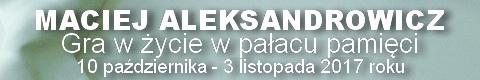 Galeria xx1 - Maciej Aleksandrowicz<br>Gra w życie w pałacu pamięci