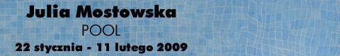 "Galeria xx1 - Julia Mostowska ""Pool"""