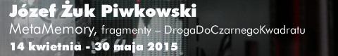 Galeria xx1 - Józef Żuk Piwkowski  MetaMemory, <br>fragmenty – DrogaDoCzarnegoKwadratu