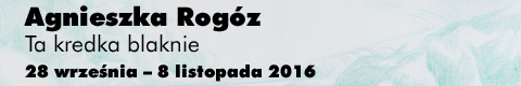 Galeria xx1 - Agnieszka Rogóz <br>&#8222;Ta kredka blaknie&#8221;